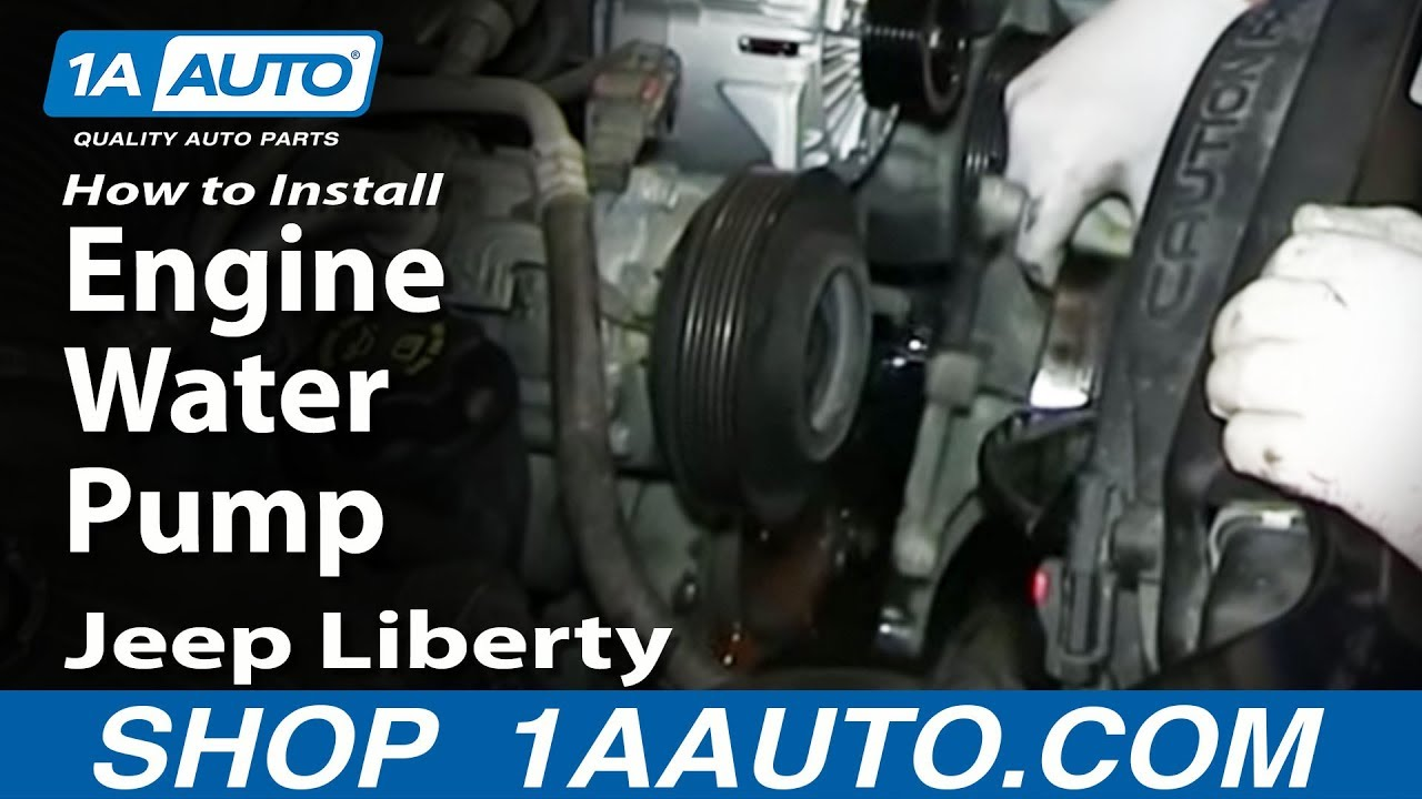 how to install replace engine water pump 2002 13 3 7l jeep liberty rh youtube com