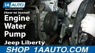 How To Install Replace Engine Water Pump 2002-13 3.7L Jeep Liberty