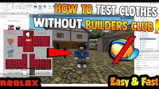 How to TEST CLOTHES without Builders club / group [EASY] !! Roblox Tutorial