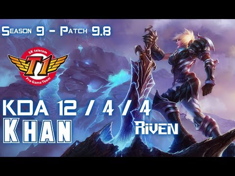 SKT T1 Khan RIVEN vs ORNN Top - Patch 9.8 KR Ranked