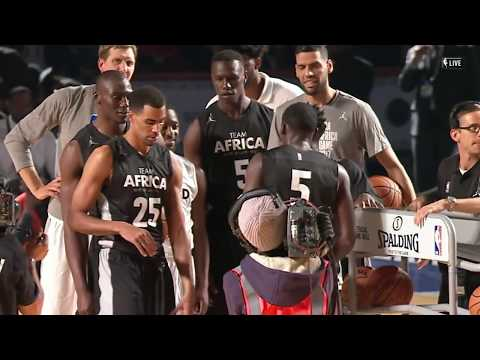 NBA Africa Game 2017 Charity Moment