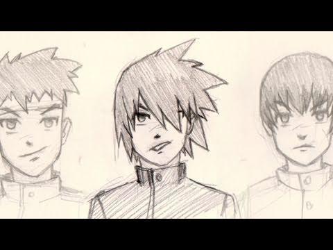 draw manga hair 4