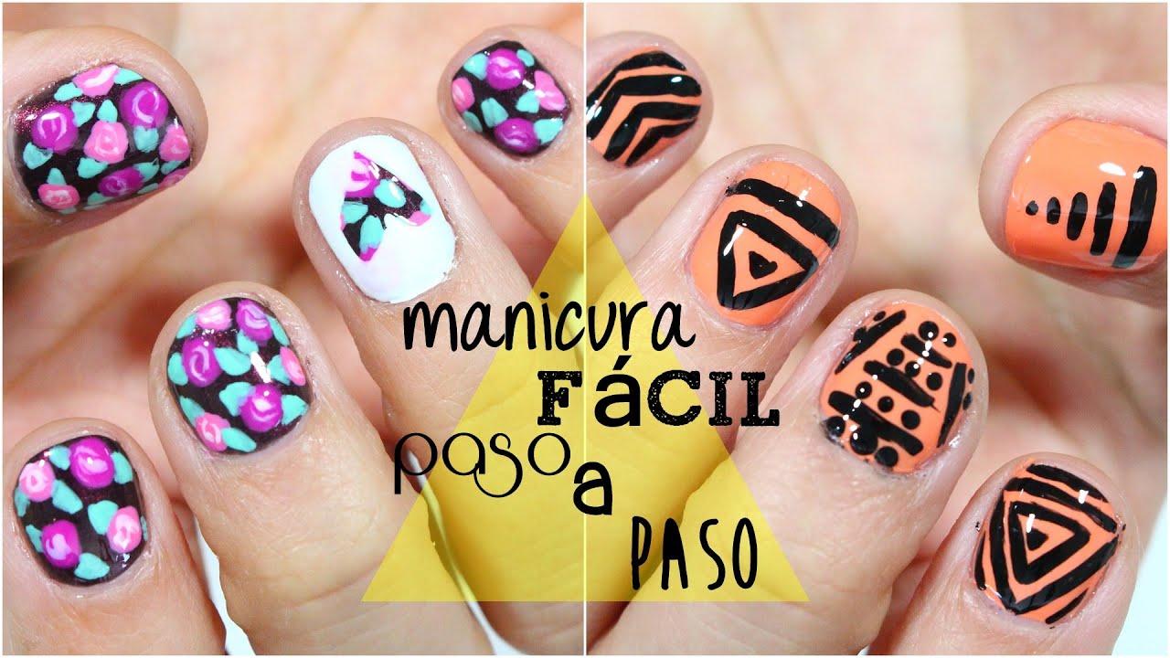 2 diseños de uñas fáciles para el verano! - YouTube