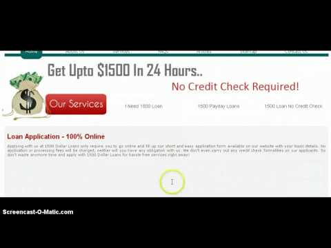 Introduction To 1500 Dollar Loans