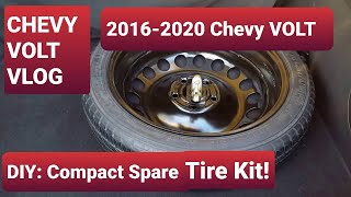 diy 2016 17 chevy volt spare tire mount and jack tools