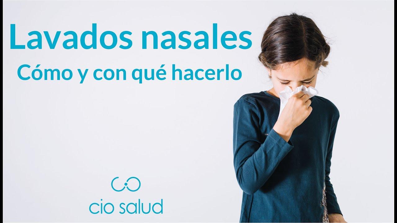 como preparar solucion salina para descongestionar la nariz