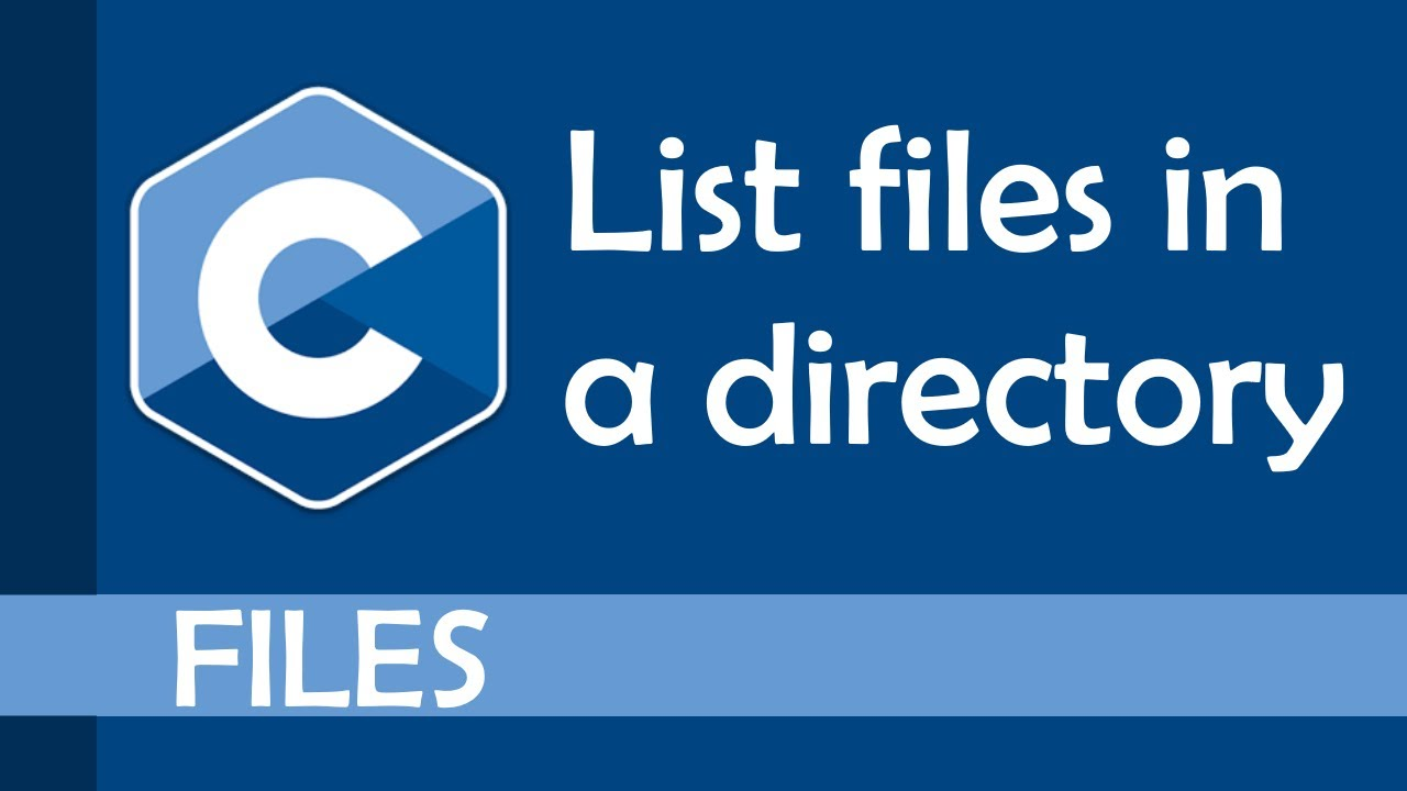 List files in a directory (recursively too!)