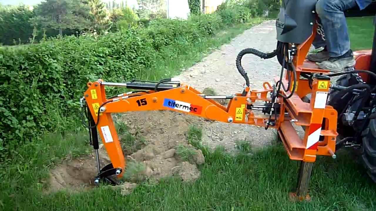 Ets meynie pelle retro sur micro tracteur doovi - Mini tracteur tondeuse ...