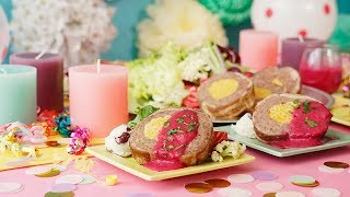 【せーので食べよう!】ピンクソースのマカロニチーズミートローフ #ロ...
