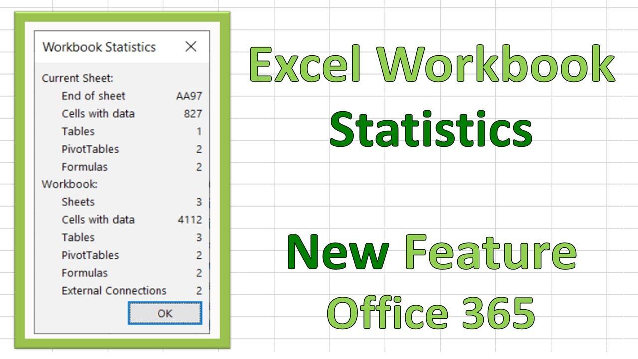New Excel 20 Feature   Workbook Statistics.