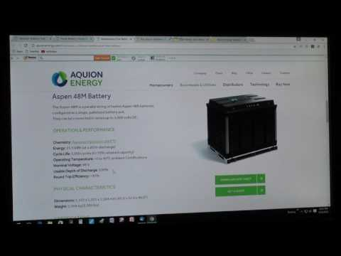 Aquion Energy Saltwater Battery Module 48vdc for Solar Energy Storage