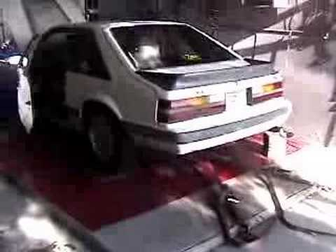 1985 Ford Mustang GT 302 wGT40p Heads Dyno Test  YouTube