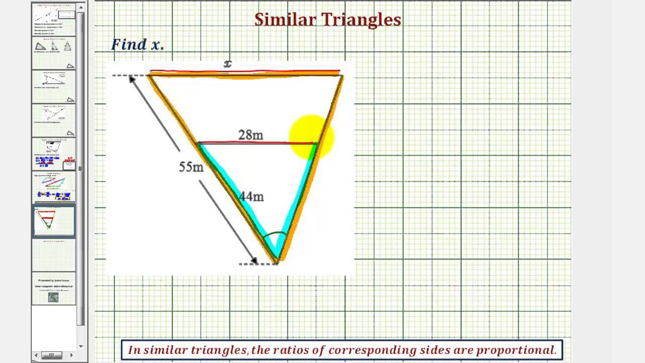Ex 2 Find The Length Of A Side Of A Triangle Using