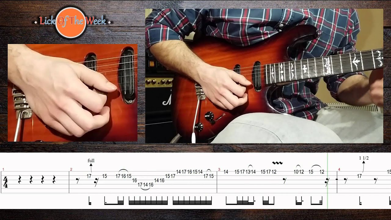 lick of the week 2 style of guthrie govan 1 with loop control