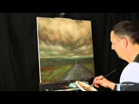 The Old Road Takes You There – acrylic landscape painting time lapse by Tim Gagnon