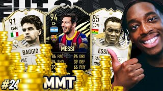 3 MILLION COINS SPENT! BUYING 94 IF MESSI, BAGGIO AND MORE! S2 - MMT #24