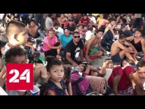 Маршрут смерти: караван мигрантов идет в США через Мексику - Россия 24