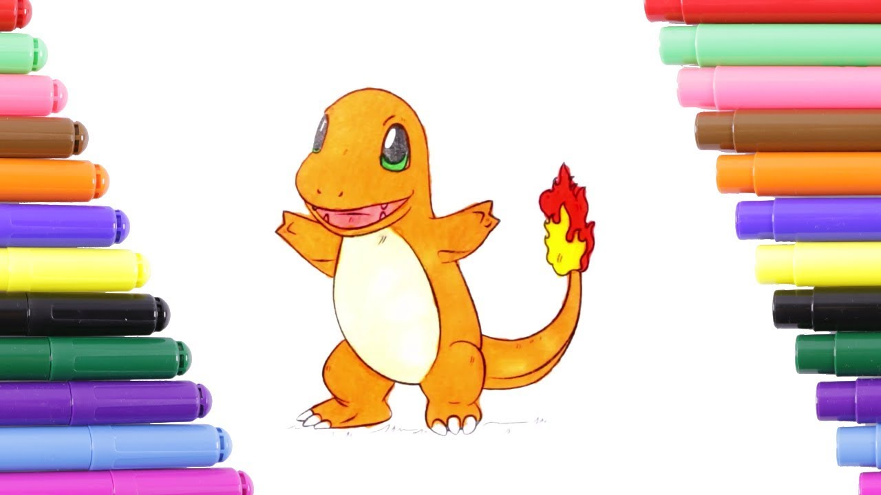 Pokemon Charmander Coloring Page For Kids Coloring Book