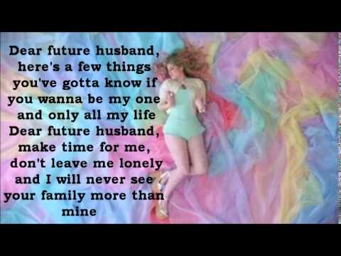 Meghan Trainor  Dear Future Husband Lyrics
