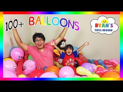 TOYS SURPRISE HUGE BALLOON POP CHALLENGE PARTY