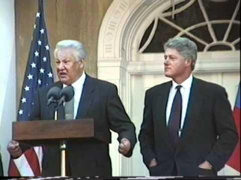 President Clinton & Boris Yeltsin, Hyde Park 1995