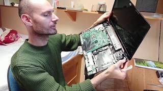 Notebook oprava pantů horkým lepidlem