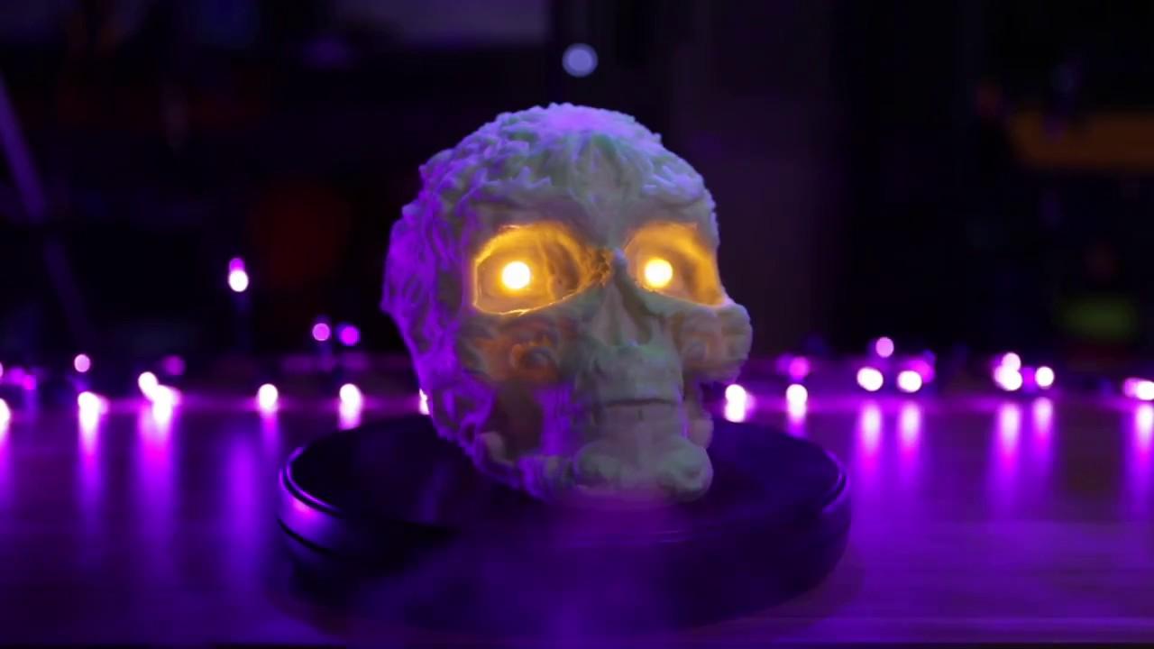 Fancy Skull With Leds 3d Printing Timelapse Youtube