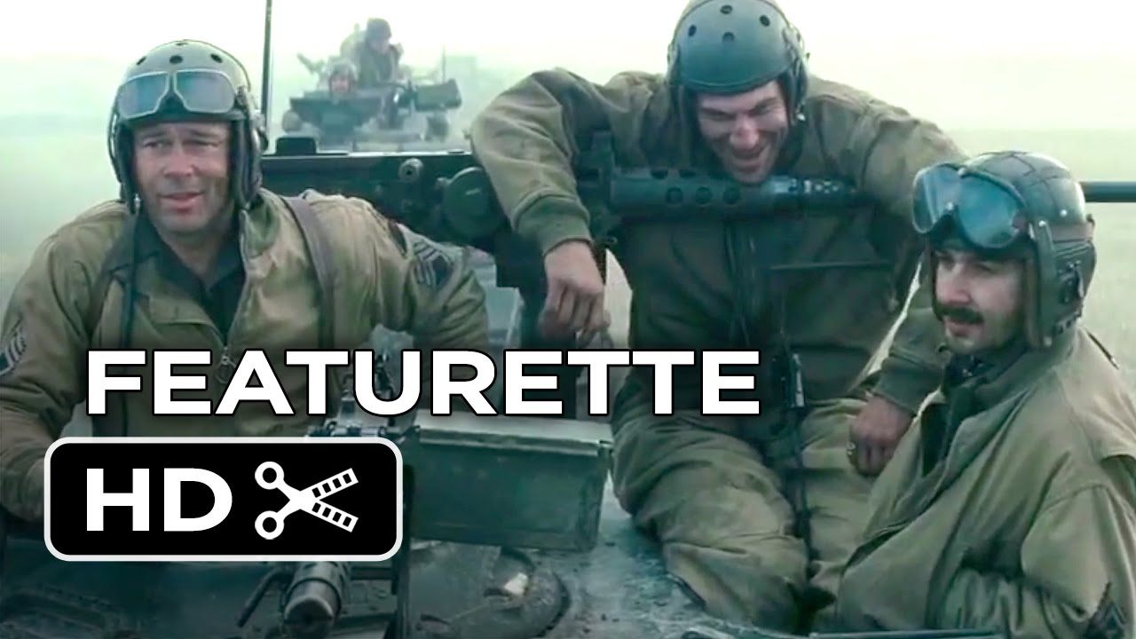 Fury Featurette Brothers Under The Gun Brad Pitt Shia - New official trailer fury starring brad pitt