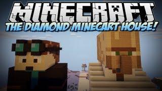 Minecraft   THE DIAMOND MINECART (& Trayaurus) HOUSE!   Build Showcase