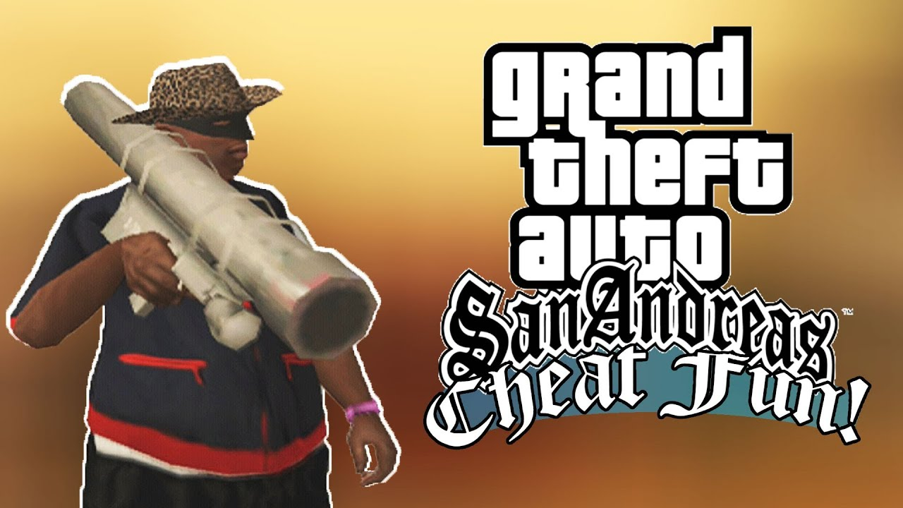 Gta San Andreas Fun With Cheats Youtube
