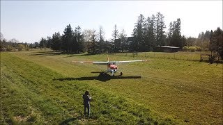 Backcountry 182, short field landing and take off Biggles.