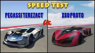 PEGASSI TEZERACT VS X80 PROTO - SPEED TEST DRAG RACE - GTA 5 ONLINE