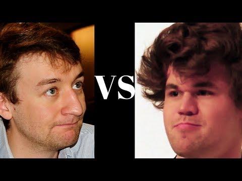 Brilliant Chess Game: Magnus Carlsen: Black vs Luke Mcshane - English Opening - Knight sacs!
