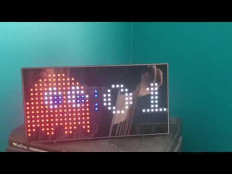 Pac-Man LED Desk Clock