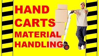 Hand Carts/Trucks Material Handling - Safety Training Video - Back Injury, Hazards, Unsafe Work!