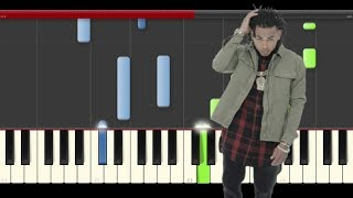 Ozuna El Pecado piano midi tutorial sheet partitura cover app karaoke
