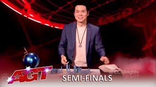 Eric Chien: Magician Has The Judges Flustered and Confused | America's Got Talent 2019