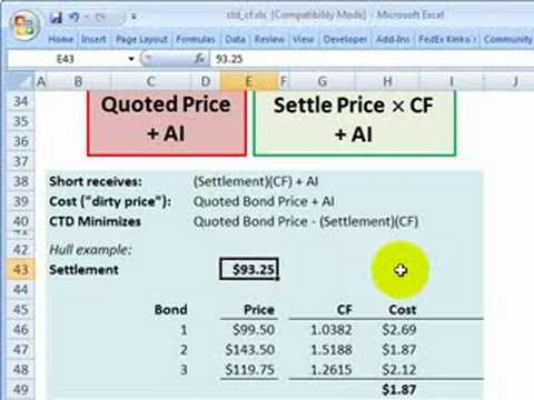 FRM: Cheapest to deliver (CTD) Treasury bond