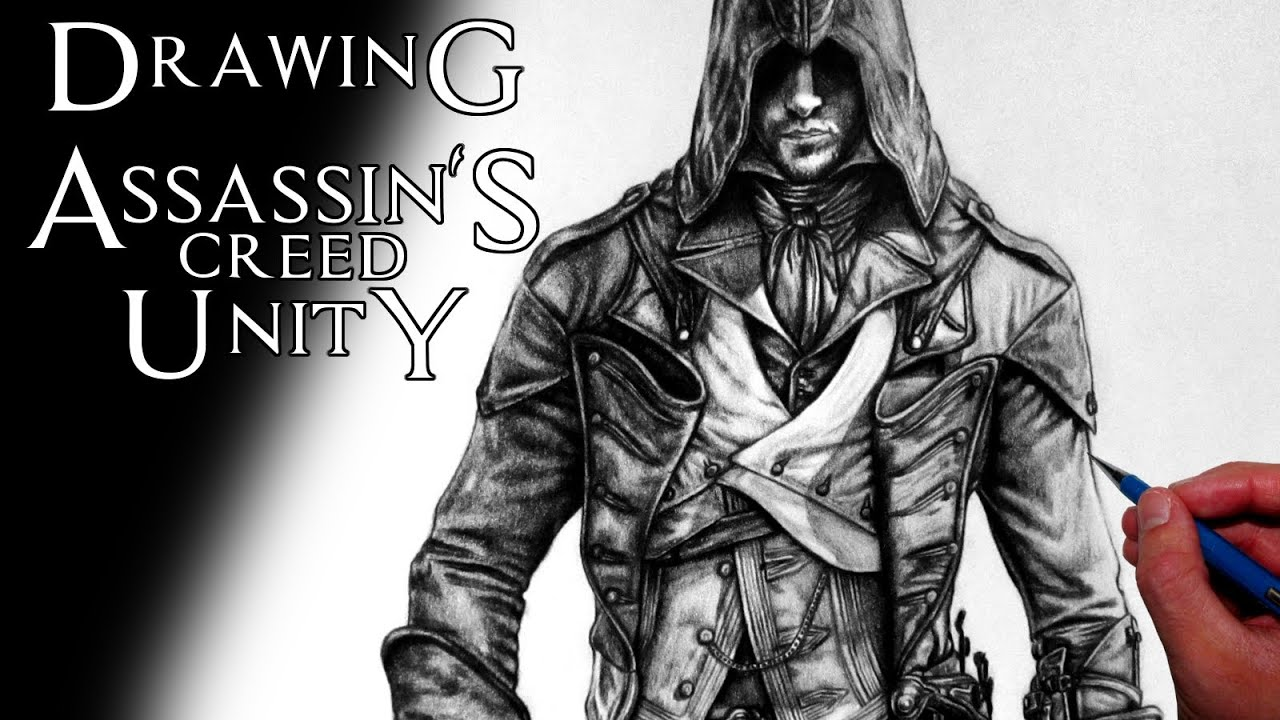 Assassin S Creed Unity Arno Dorian Drawing Fan Art Time Lapse