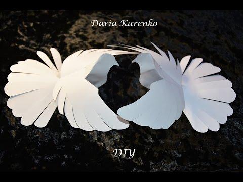 Как сделать объемного голубя из бумаги фото 122