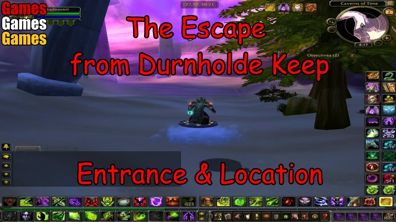 the escape from durnholde keep entrance location world of warcraft the burning crusade youtube. Black Bedroom Furniture Sets. Home Design Ideas