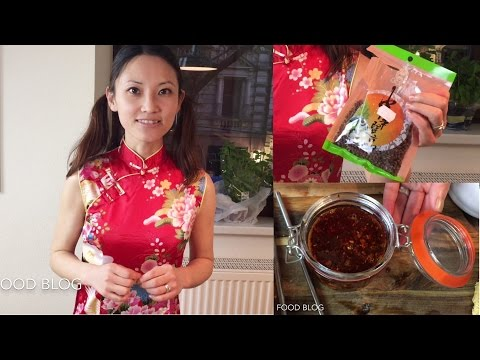 Chili oil chili sauce red oil authentic Sichuan Szechuan hot recipe Chinese food cooking 四川辣油红油