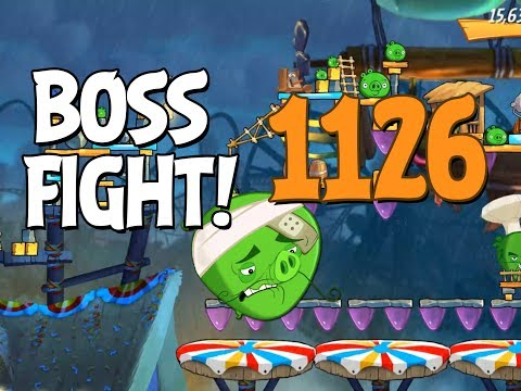 Angry Birds 2 Boss Fight 160! Chef Pig Level 1126 Walkthrough - iOS, Android