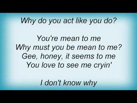 Ruth Etting - Mean To Me Lyrics