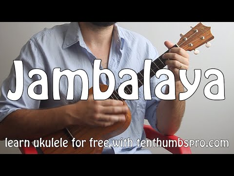 Jambalaya - Hank Williams - C.C.R. - Easy Ukulele Two Chord Song Tutorial