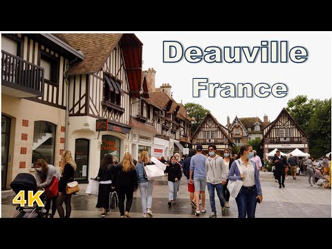 Deauville, France - Walking tour (4K UHD)