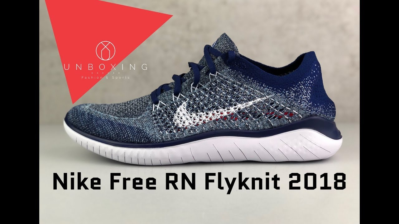 b6cc9dec7bed5 Nike Free Run Flyknit 2018  Blue void white blue-tint