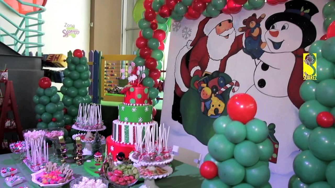 Cumplea os navidad en pekepolis youtube - Decoracion para foto ...