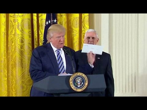 President Donald Trump Swears In White House Senior Staff. Jan. 22, 2017.