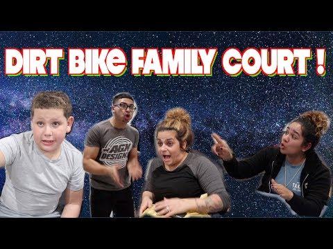 FAMILY REACTS TO MY DIRT BIKE CRASH !